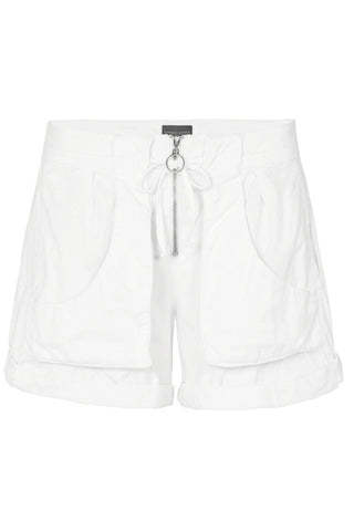 CARGO STONEWASHED SHORTS - WHITE