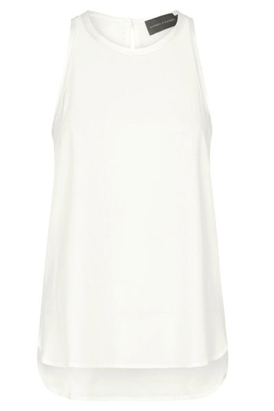 SILK HIGH NECK CAMI - NATURAL