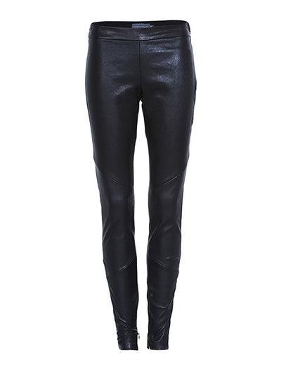 STRETCH LEATHER PANTS-Pants-Watson X Watson-Watson X Watson