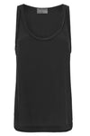 SILK LOW NECK CAMI - BLACK-TOP-Watson X Watson-Watson X Watson