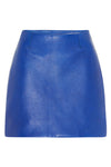 MODERN LEATHER MINI SKIRT - COBALT-SKIRT-Watson X Watson-Watson X Watson