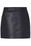 MODERN LEATHER MINI SKIRT - BLACK-SKIRT-Watson X Watson-Watson X Watson