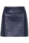MODERN LEATHER MINI SKIRT - NAVY-SKIRT-Watson X Watson-Watson X Watson
