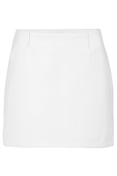 MODERN LEATHER MINI SKIRT - WHITE-SKIRT-Watson X Watson-Watson X Watson