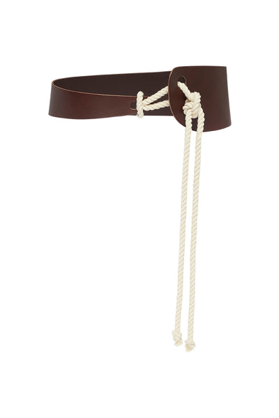 SCULPTED ROPE BELT - CHOCOLATE-BELTS-Watson X Watson-ONE SIZE-CHOCOLATE-Watson X Watson