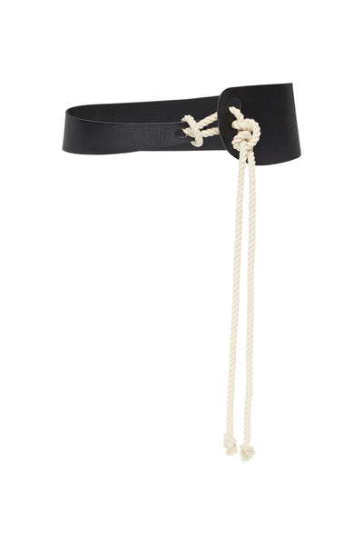 SCULPTED ROPE BELT - BLACK-BELTS-Watson X Watson-ONE SIZE-BLACK-Watson X Watson