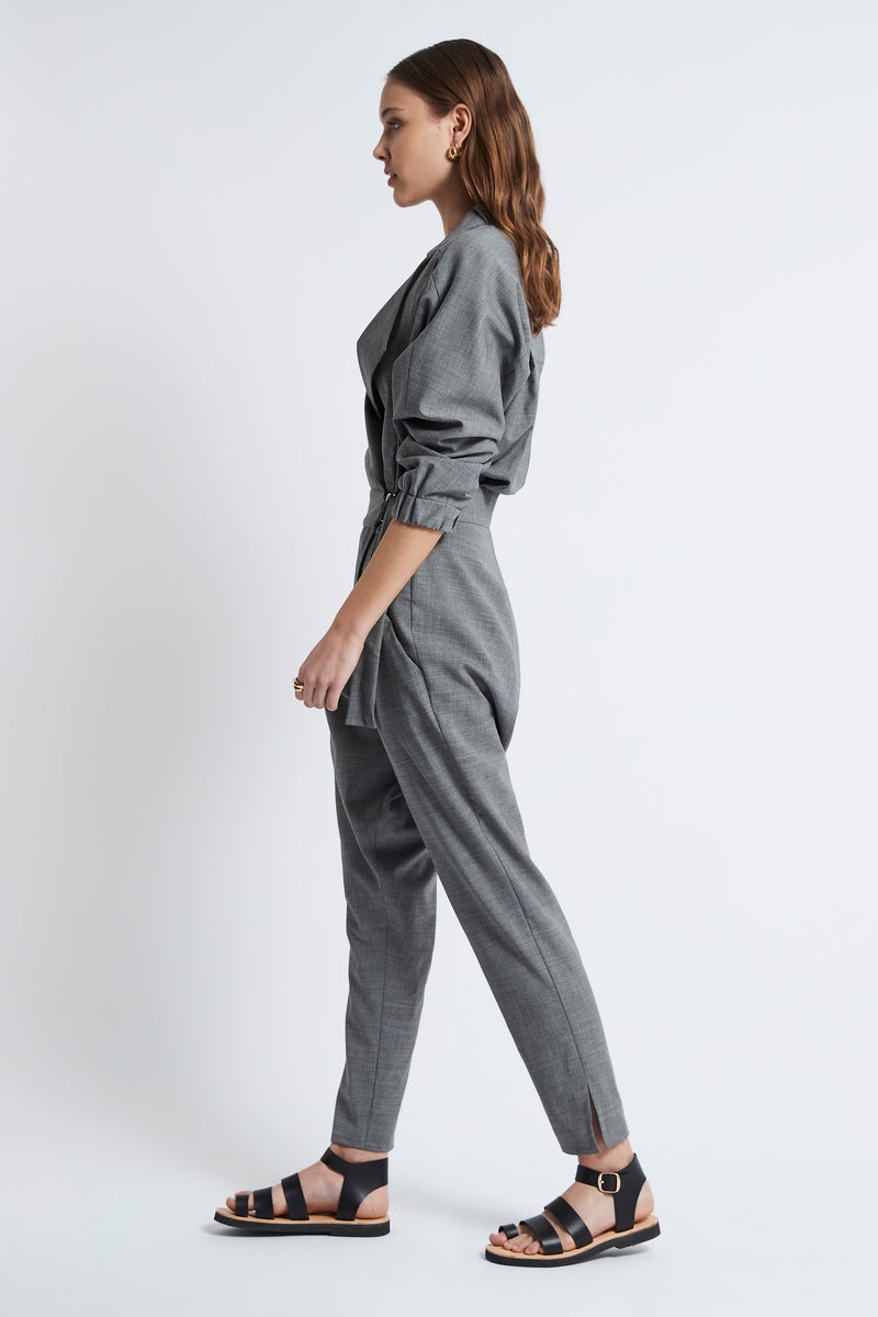 D-RING JUMPSUIT - LIGHT GREY-Jumpsuit-Watson X Watson-Watson X Watson