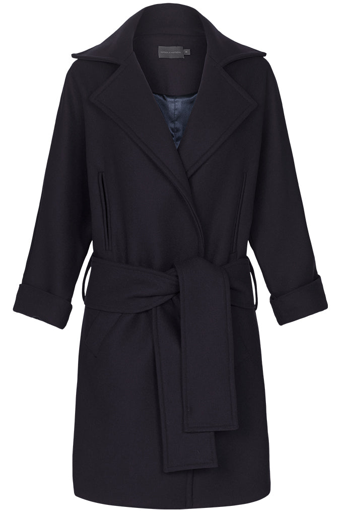 THE COAT - DARK NAVY-Jacket-WatsonXWatson-Watson X Watson
