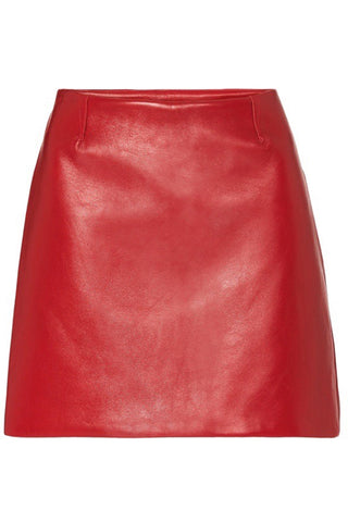 MODERN LEATHER MINI SKIRT - RED