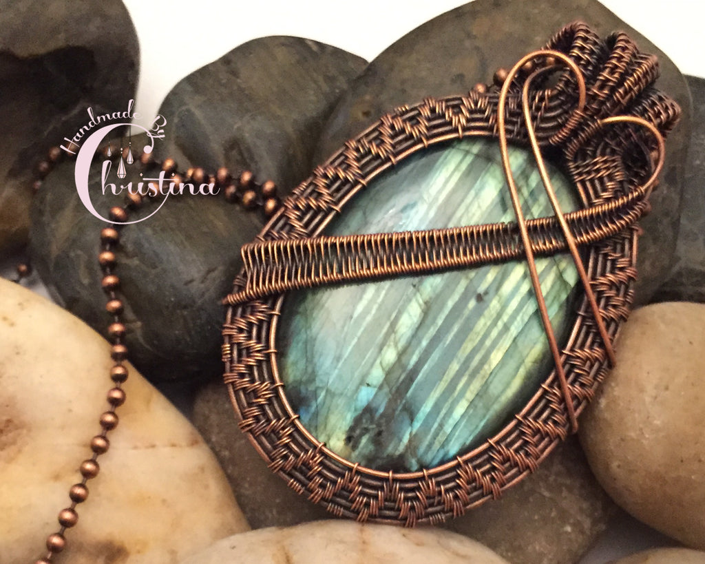 compass product campfire necklace pendant labradorite jewellery