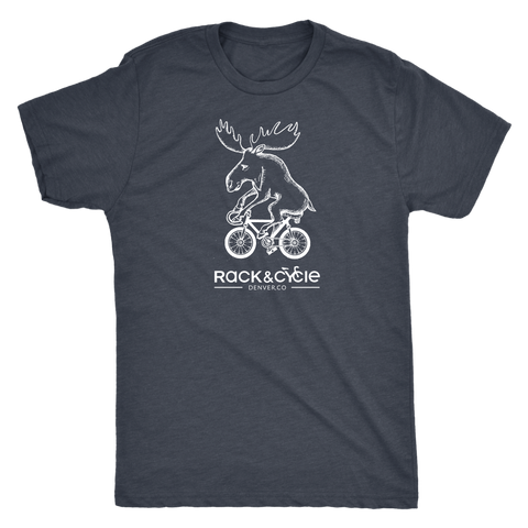 Men's Moose T-Shirt (white ink)