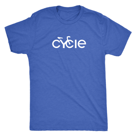 Men's Cycle T-Shirt (white ink)