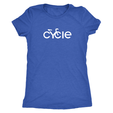 Women's Cycle T-Shirt (white ink)