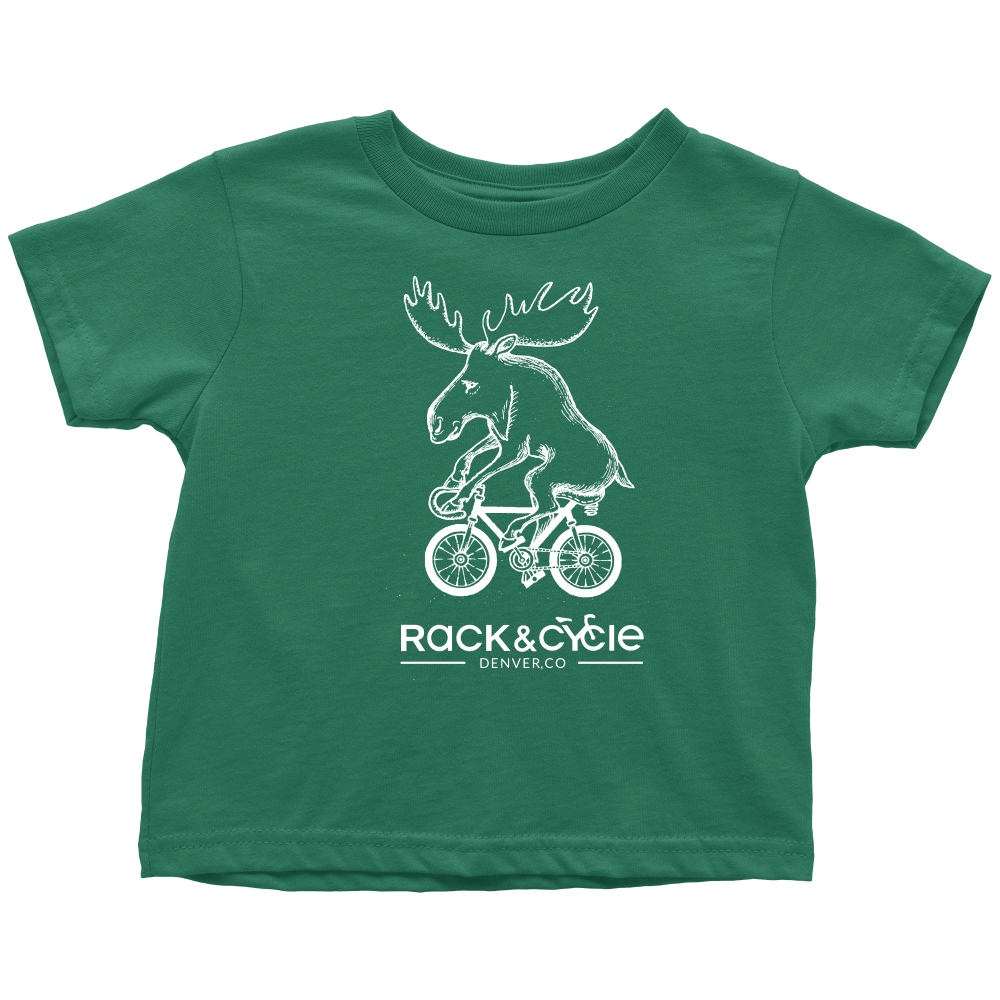 aebb3f7a Toddler Moose T-Shirt (white ink) – Rack & Cycle