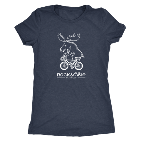 Women's Moose T-Shirt (white ink)