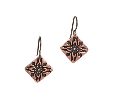 Acorns Copper Earrings