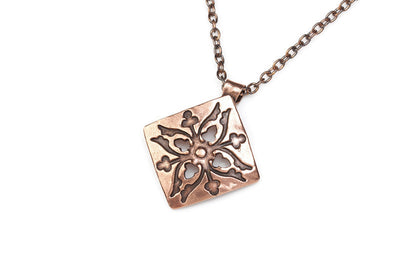 Acorns Copper Pendant