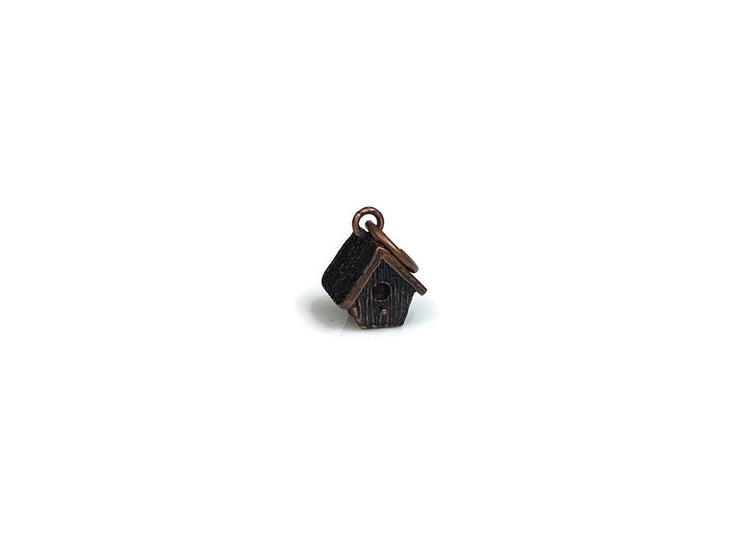Birdhouse Charm Copper