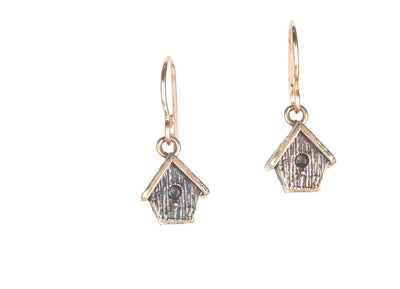 Birdhouse Bronze Earrings