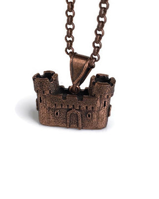 Castle Pendant Copper