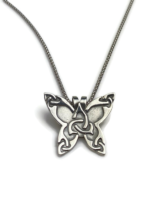Celtic Butterfly Silver Pendant