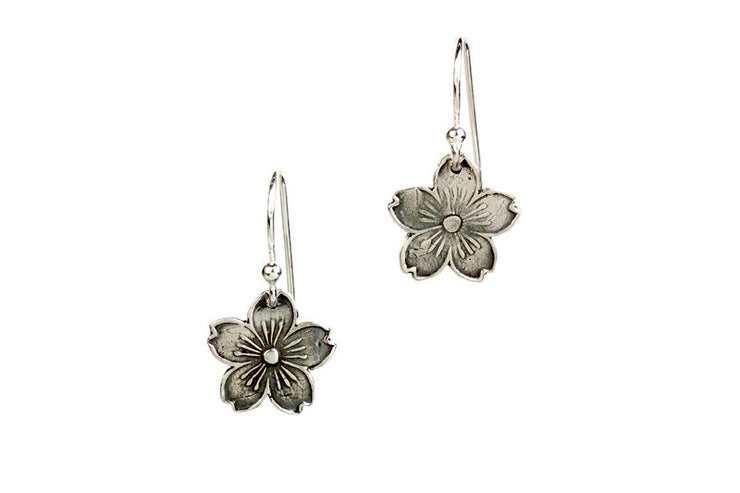 Cherry Blossoms Silver Earrings