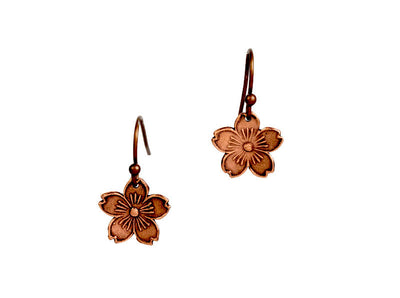 Cherry Blossoms Copper Earrings