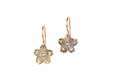 Cherry Blossoms Bronze Earrings