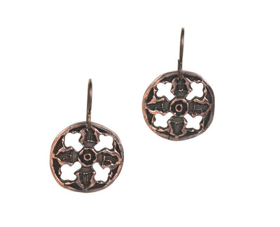 Circulation Copper Earrings