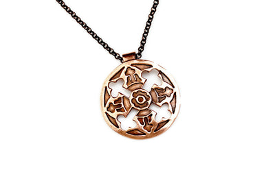 Circulation Copper Pendant