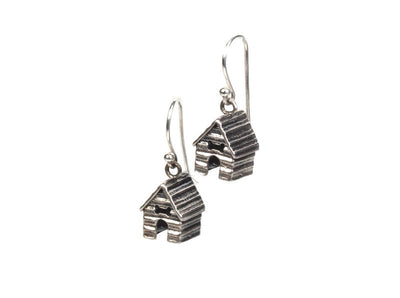 Doghouse Silver Earrings
