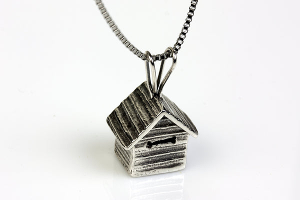 Doghouse Silver Pendant