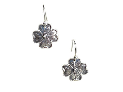 Dogwood Silver Earrings