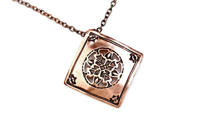 Encompassing Copper Pendant