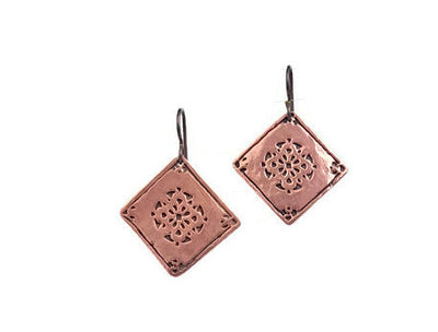 Encompassing Copper Earrings