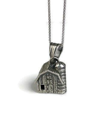 Farm House Silver Pendant