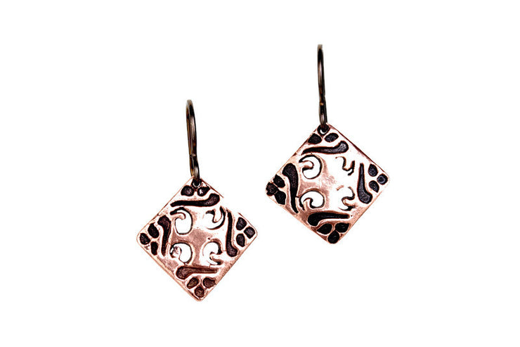 Flourish Copper Earrings