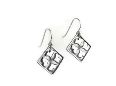 Ginkgo Leaves Silver Earrings