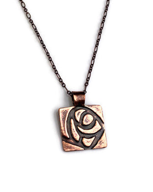 Glasgow Rose Pendant Bronze or Copper