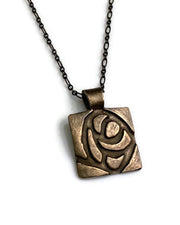Glasgow Rose Pendant Bronze