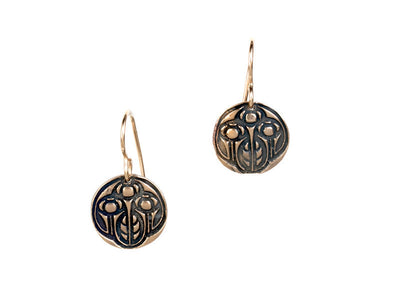 Growing Bronze or Copper Earrings