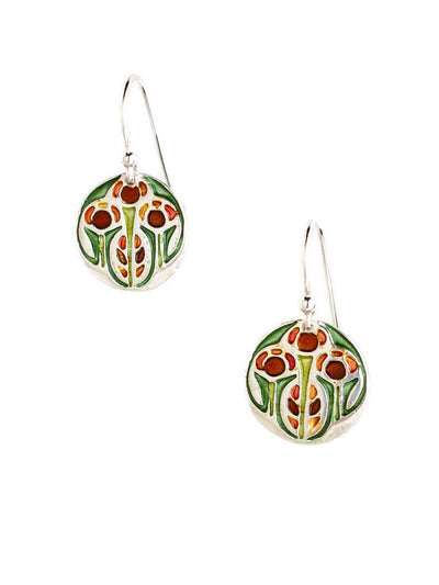 Growing Enameled Earrings