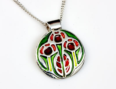Growing Enameled Pendant