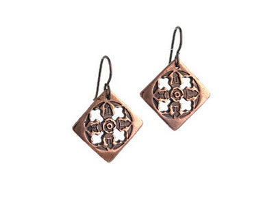 Inertia Copper Earrings