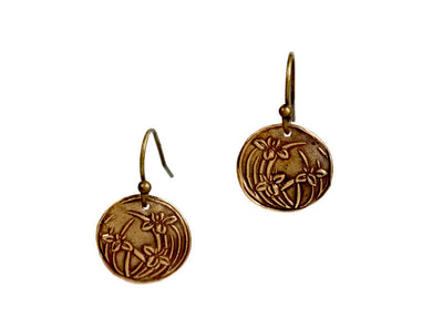 Iris Embrace Bronze Earrings