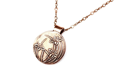Iris Embrace Copper Pendant