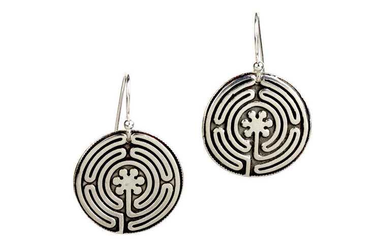Labyrinth Silver Earrings