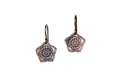 Lotus Flower Copper Earrings