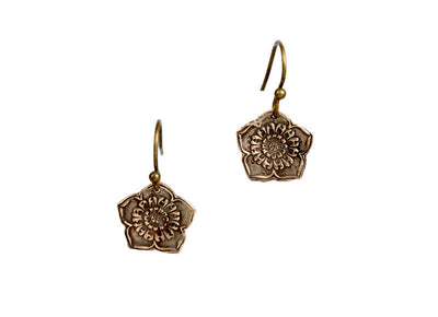 Lotus Flower Bronze Earrings