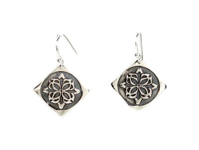 Medallion Silver Earrings